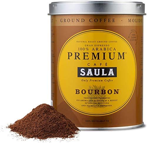 Café Saula, 2 Botes de 250 gr. Gran Espresso Premium Bourbon Blend 250 gr. café molido 100% Café Arábica