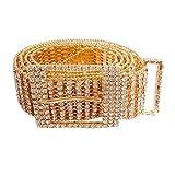 Cinture da donna Cintura in con strass di cristallo Cintura a catena scintillante Diamante Cintura per accessori moda,Oro,105 CM
