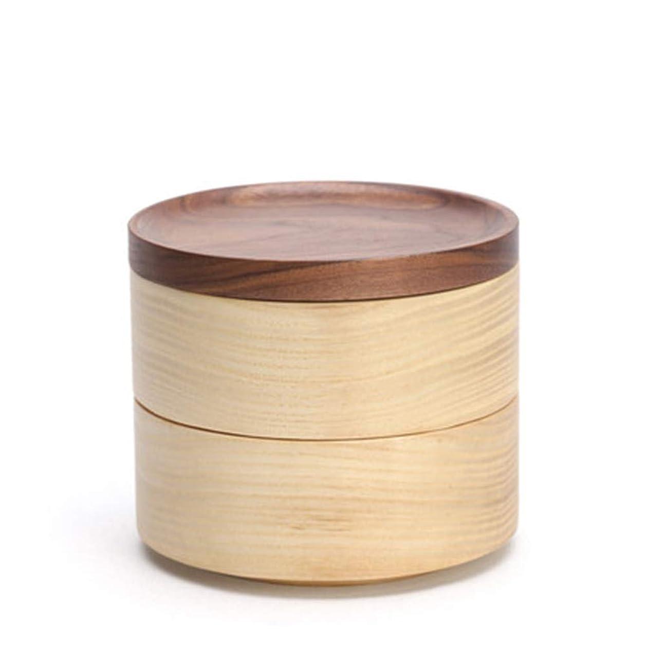 ジェーンオースティンレモン住居木製ジュエリーボックス、トラベルボックス二重層ジュエリーオーガナイザー、オーガナイザーと女性のための収納二層の取り外し可能なパーティションイヤリングブレスレットリングケース