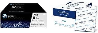 $182 » HP 78A | CE278D | 2 Toner Cartridges | Black & Hammermill Paper, Copy Paper, 8.5 x 11 Paper, Letter Size, 20lb Paper, 92 Bright, 8 Ream Case / 4,000 Sheets (113640C) Acid Free Paper