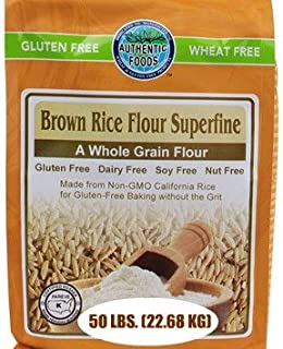 Authentic Foods Superfine Brown Rice Flour, 50 Pound