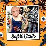 Máscara facial de látex para fiesta de disfraces de Halloween, miedo llorando feo bebé tocado adultos niños cosplay disfraz novedad artículo (C)