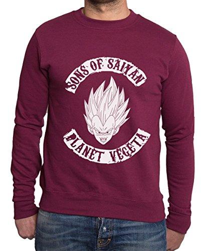 Sambosa - Sweat-Shirt - Homme Rouge Rouge Bordeaux 3XL
