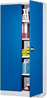 QUIPO Armoire universelle - h x l x p 1950 x 915 x 421 mm gris clair / bleu gentiane - Armoire Armoire métallique Armoire ...