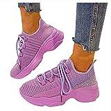 Dasongff Chaussures de loisirs pour femme - Avec talon compensé - Respirantes - Légères - Grandes...