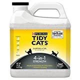 Purina Tidy Cats Clumping Cat Litter, 4-in-1 Strength Multi Cat Litter - 14 lb. Jugs (Pack of 3)