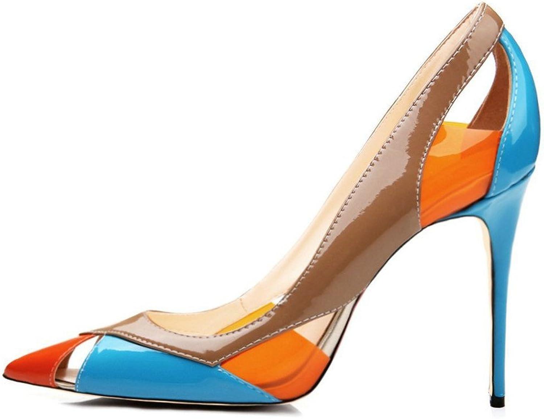 AIWEIYi Womens Pointed Toe Stiletto High Heels Dress Classic Pumps pink