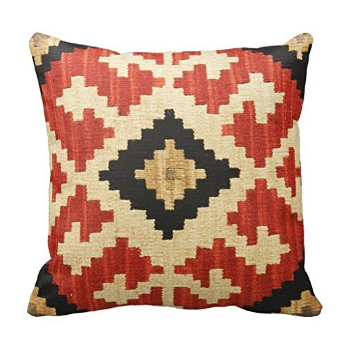 vintage cap Soft Cotton&Linen Cushion Cover Pillowcases Throw Pillow Tribal Patterns Geometric Indian Native Wester Decor Pillow Case Home Decor 18""