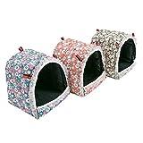 MINGZE Hamster Hamac, Belle cabane, Maison Suspendue pour Maison pour Hamster Gerbille Chinchilla Souris Furet hérisson, M/L/XL (L)