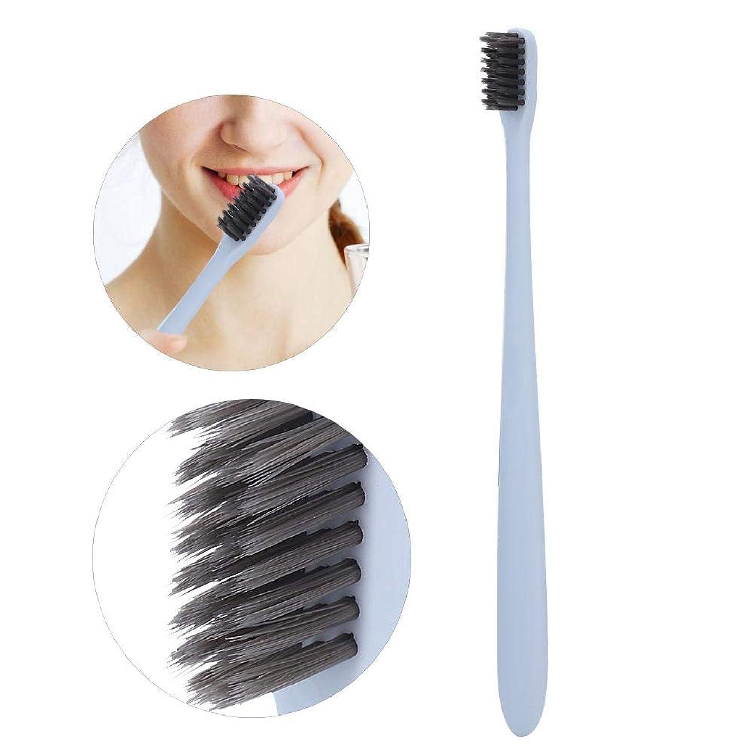 主張肘王子10ピース歯ブラシ、竹炭ソフトブラシ髪の歯ブラシ歯の歯磨きブラシ大人用
