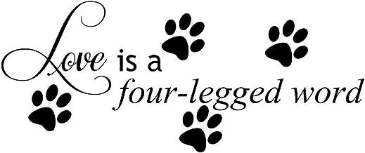 Empresal Love is A Four Legged Word Decal Wall Vinyl Decor Sticker Home Cat Dog Animal