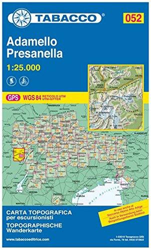 Adamello - Presanella 1 : 25 000: Carta Topografca / Topographische Wanderkarte