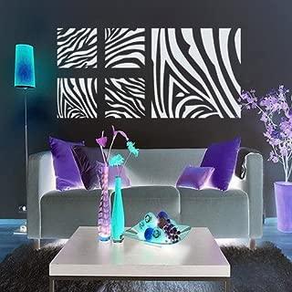 ColorfulHall DIY Black Bamboo Zebra Print Stripe Heart Wall Art Decal Sticker Bedroom Dorm Living Room Nursery Decor and Home Decoration (23.6