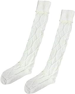 Botas Largas De Mujer Punto Hasta Calcetines Para La Rodilla Estilo Simple Muslo Medias Cómodas Calcetines De Mujer Transpirables Suaves Ocasionales Color Sólido
