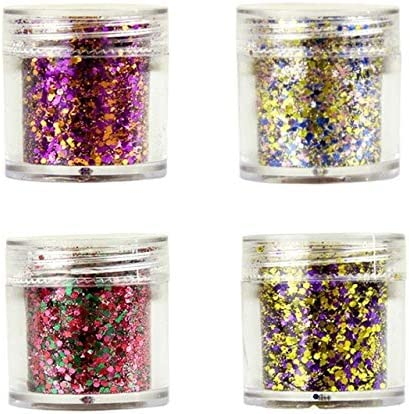 Gabcus 4 Pots in 1 10ml Pot New Free Shipping Po Large special price Shiny Glitter Series Blue Nail