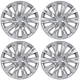 "BDK K1037 Silver Hub Caps (Wheel Covers) for Toyota Camry 2012-2013 16"" – Four (4) Pieces Corrosion-Free & Sturdy – Full Heat & Impact Resistant Grade – OEM Replacement"