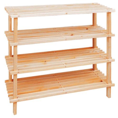 Premier Housewares Wooden Zapatero, Cedro