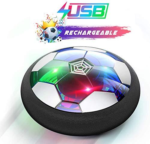 Ucradle Air Power Fußball - 2019 Wiederaufladbar Hover Ball Indoor Football mit LED, Super Spaß beim Fußballspielen in Innenräumen, Perfekt für Kinder Jungen Mädchen(AA Batterien Wird Nicht benötigt)