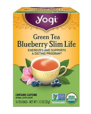 Yogi Tea, Green Tea Blueberry Slim Life, 16 Count by Yogi