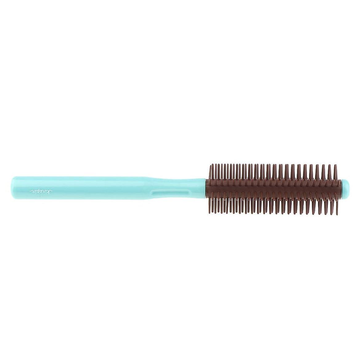 工業用リボン許容できるP Prettyia ロールブラシ 帯電防止櫛 ヘアブラシ くし 2色選べ - 青