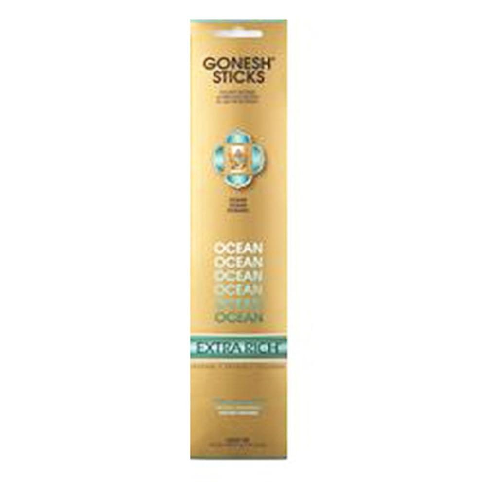宙返り視線旅行Gonesh Incense Extra rich- Ocean ( 20?Sticks in 1パック) 2208367