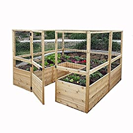Outdoor living today raised garden bed 8 x 12 with deer fence kit 1