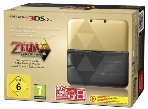 Nintendo 3DS XL - Konsole Gold/Schwarz Zelda-Bundle (Limited Edition)