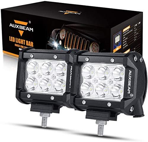 Auxbeam 2 Pcs LED Light Bars 4 inch LED Pods 18W Driving Light...
