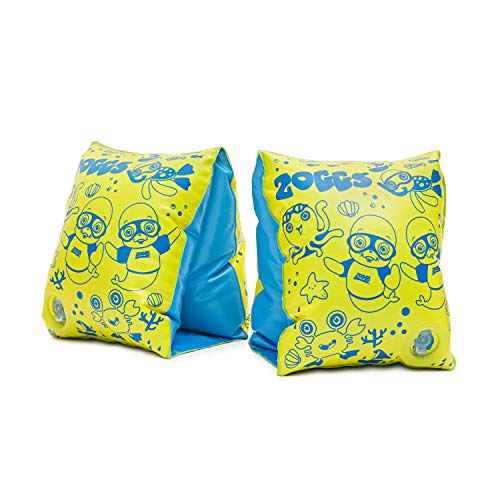 Zoggs Baby Zoggy Inflatable Armbands for Swimming, Yellow/Blue, 1-6 years/11-25 kg