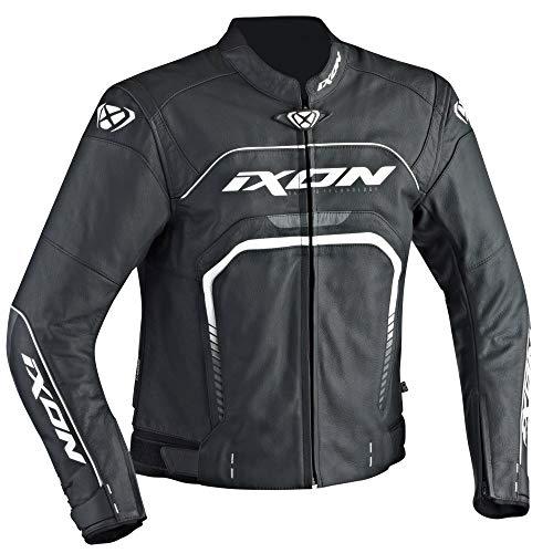 Ixon - Giacca da moto Fighter, colore: Nero/Bianco