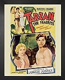 1art1 Tarzan Poster Kunstdruck und MDF-Rahmen - Der