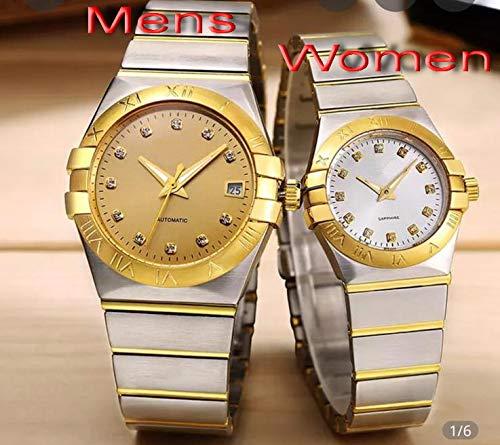 GFDSA Automatische horloges Luxe merk Heren Dames Automatisch mechanisch horloge Goud Zilver Wit Roestvrij staal Saffier Sport Modieus Diamant 40 mm 35 mm