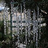 ToBeIT 25 pcs icicles Ornament Set Christmas Decoration Acrylic Clear icicles Set (25pcs icicles Ornament)