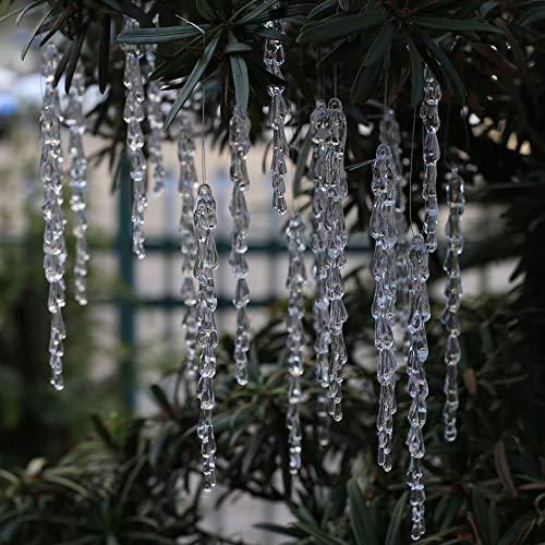 25 pcs icicles Ornament Set - ToBeIT Christmas Decoration Acrylic Clear icicles Set (25pcs icicles Ornament)
