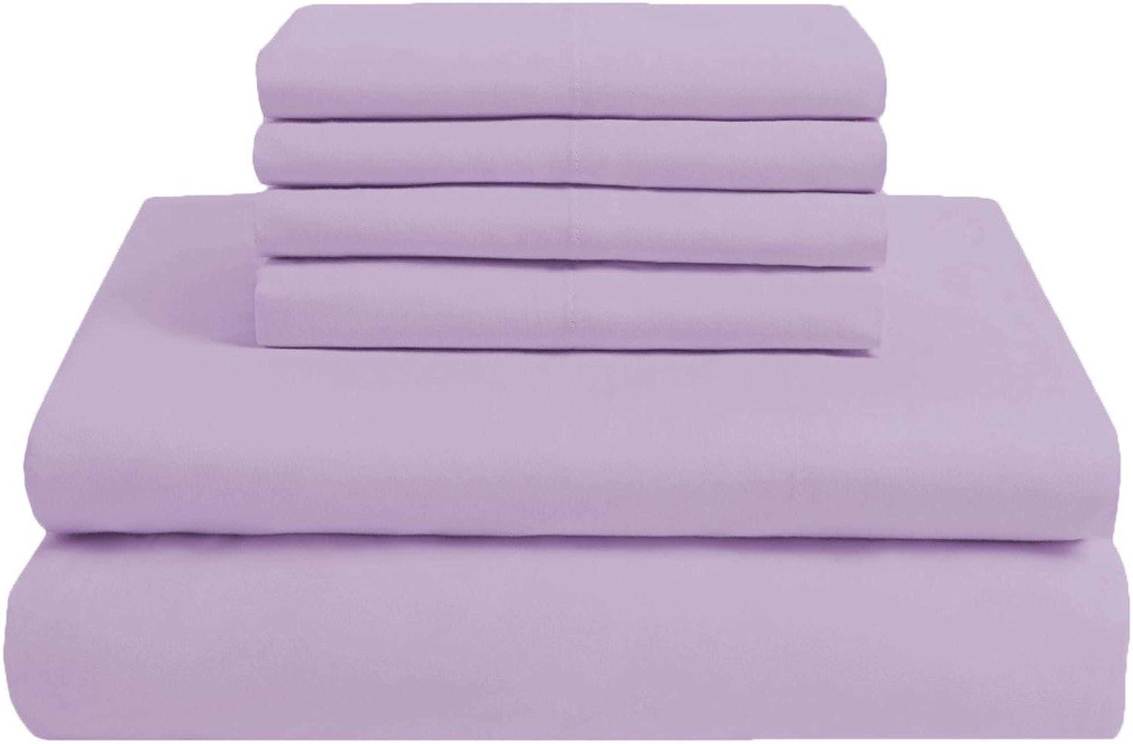 connotación de lujo discreta SCALABEDDING 23pulgada de profundidad bolsillo 100% algodón egipcio 6piezas 300hilos 300hilos 300hilos Tamaño doble hoja sólida de lavanda  calidad de primera clase