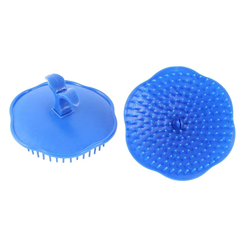 ロードハウステキスト招待洗髪櫛 頭皮 マサージ プラスチック ダークブルーシャンプーブラシ 2個