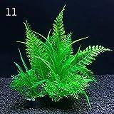 Overlord 12 tipos de plantas decorativas artificiales para acuarios, plantas acuáticas decorativas de plástico, accesorios decorativos para acuario, 14 cm (color: 11, tamaño: 8 x 14 cm)
