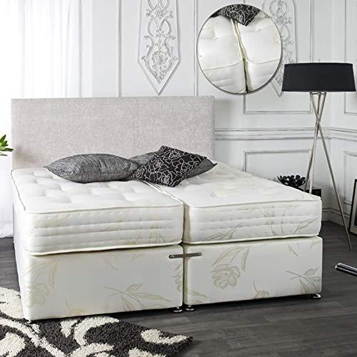 sleepkings Luxury 5ft Kingsize Zip & Link Divan Bed Set with Deep Orthopaedic Tufted Firm Mattress