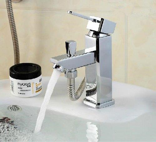 Waschtischarmatur quadro mit Umsteller Umstellventil für Anschluß Schlauch Brauseschlauch 9105-1C