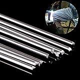 Welder Repair Rod Repair Rod 10pcs Metal Aluminum Welding Rod Low Temperature Magnesium Soldering Brazing Stick Rods 1. 6mmx250mm Silver