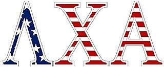 Lambda Chi Alpha American Flag Greek Letter Sticker - 2.5