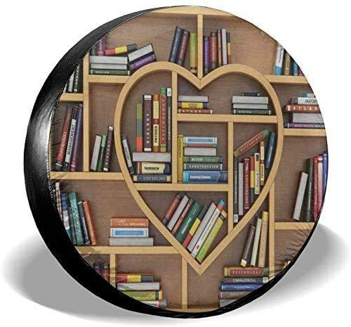 Bücherregal Bibliothek Back to School Ersatzreifenabdeckung UV-Sonnenradabdeckungen Passend für, Anhänger, Wohnmobil, SUV und viele Fahrzeuge 15 Zoll