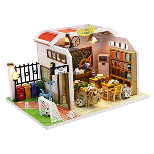 PLAYFUN Wooden Christmas 3D Doll House DIY Miniature Thanksgiving Holiday Dcor Cottage Kids Gift Living Room Furniture Kit Toy Dollhouse