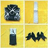 Sora Kasugano cosplay cheongsam Yosuga no Sora Cosplay clothing White or black costume+Gloves + Socks + High heels+Fashion wig XL Black cheongsam