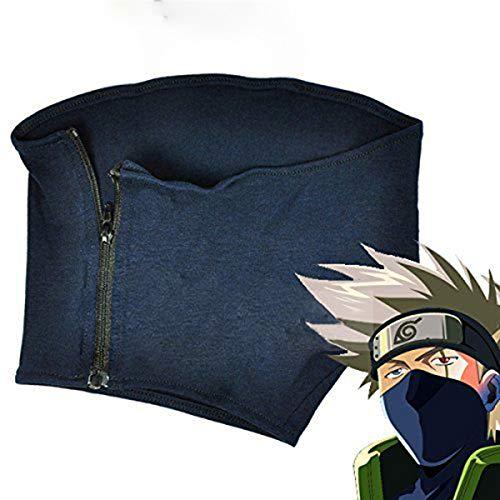LACKINGONE - Máscara de anime para cosplay, de Kakashi Hatake, de Naruto, Unisex, azul
