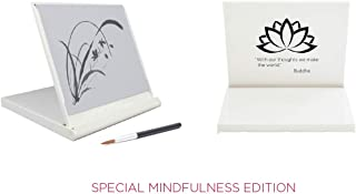Buddha Board Mini Buddha Board, 5 x 5 x 1/2-Inch, White (Special Mindfulness Edition)