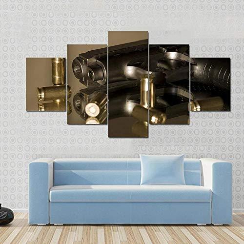 Kunstdruck Bilder 5 Teile Wandbilder Kleine Gaspistolen Zur Selbstverteidigung 5 Teiliges Wandbild Moderne Dekoration Leinwand Bilder Schlafzimmer Home Decor