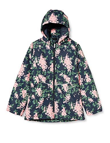 NAME IT Mädchen NKFMAXI Jacket FLOWER1 Aufwärm-Jacke, Dark Sapphire, 134