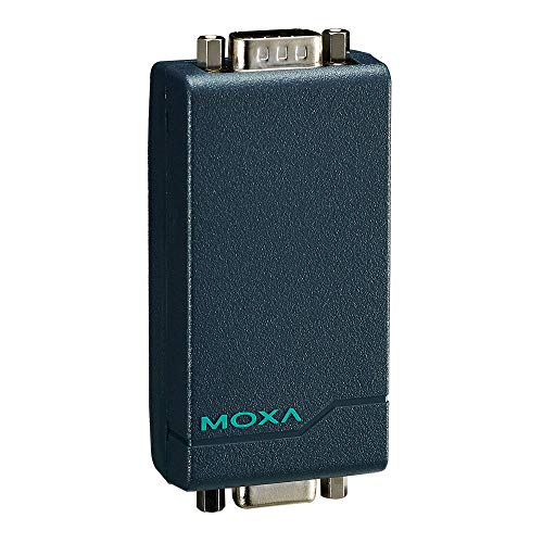 Moxa Port-Powered RS-232 to RS-422/485 Converter with 15 KV Serial ESD Protection, DB9 Male Connector on The RS-422/485 Side, and 2.5 KV Optical Isolation