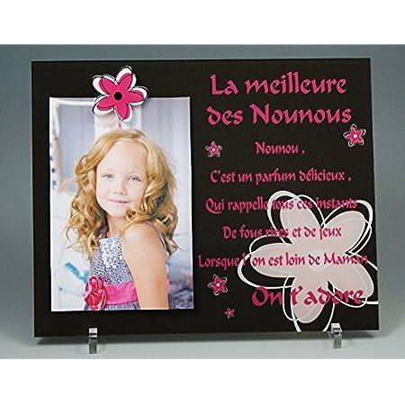 Cadre Photo Aimant – Poème pour Nounou – (Cadeau pour la fête des Nounous, Noël, Anniversaire, fin de contrat, fin d'année scolaire